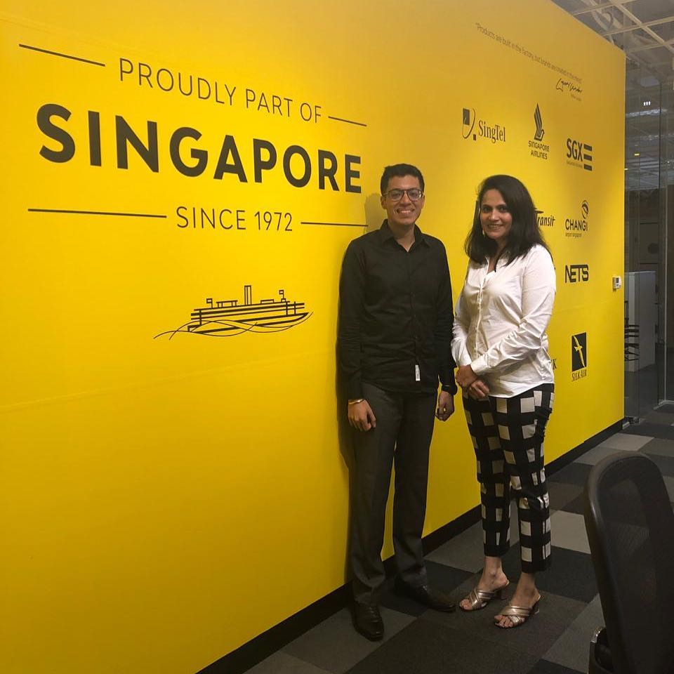 Manil at the Landor Singapore office